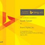 Scott's Bing Accreditation Certificate - WooHoo!